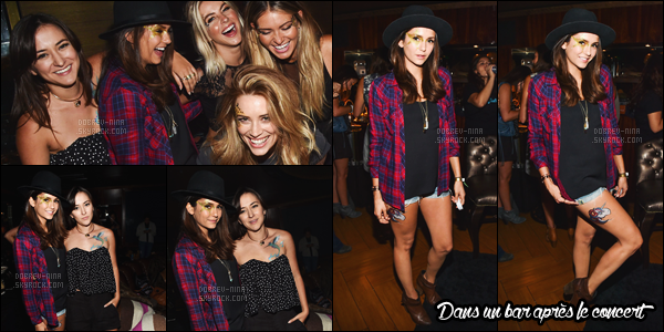 26/08/15 : Nina Dobrev a été photographiée arrivant au concert de Taylor Swift au Staples Center à Los Angeles. Deuxième fois que l'on retrouve Nina au concert de Taylor mais cette fois-ci entre autre avec Julianne Hough, Riawna Capri et Zelda Williams. TOP!