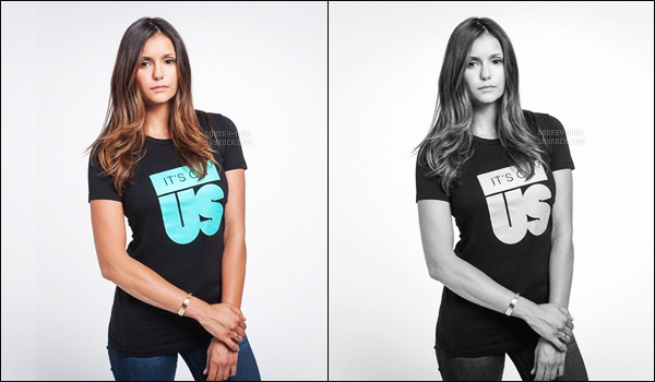 Découvrez une vidéo pour la campagne « It's On Us » avec Nina et d'autres célébrités.  It's On Us est une association américaine qui à pour but de lutter contre les agressions sexuelles. Nina y fait une courte apparition entre 0:13 et 0:15.