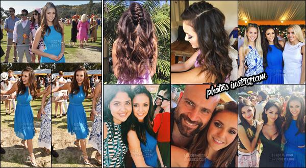 17/10/2015 : Nina était présente à l'événement « 6th Annual Veuve Clicquot Polo Classic » - à Los Angeles. Nina était très jolie, je trouve que le bleu lui va très bien et j'aime bien sa coiffure. Elle a posé avec son amie Jamie King. Donne ton avis sur Nina !