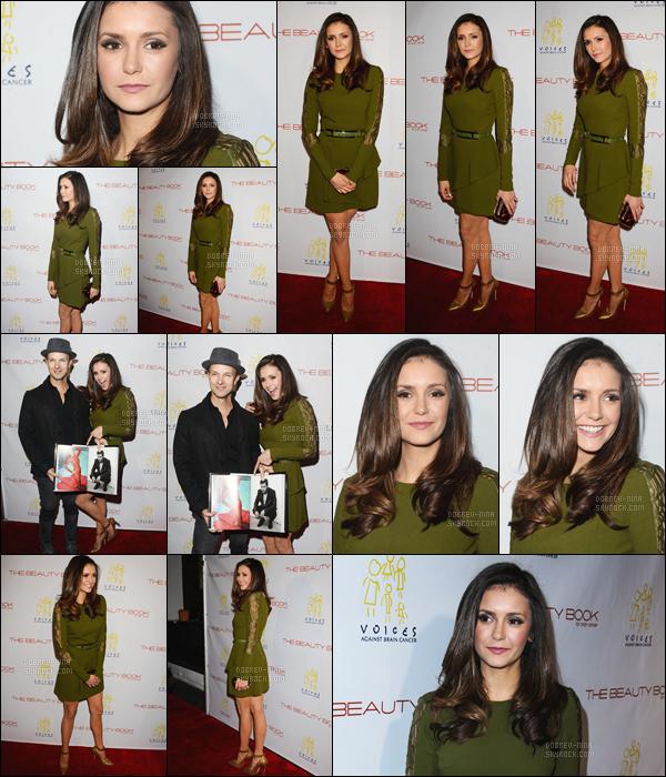 - 03/12/2015: Nina D. était présente au « The Beauty Book For Brain Cancer Edition 2 Launch Party » à LA.   Nina portait une robe de la marque Elie Saab. Je trouve Nina très jolie comme d'habitude - Donne ton avis sur la tenue et sur sa mise en beauté -