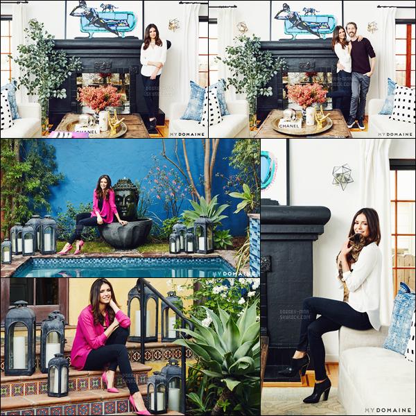 L'actrice Nina Dobrev a réalisé un photoshoot pour le site de décoration « My Domaine ». Ce photoshoot a été réalisé dans la maison de l'actrice à Los Angeles. La maison a été redécoré par @mydomaine et @ConsortDesign - top !!
