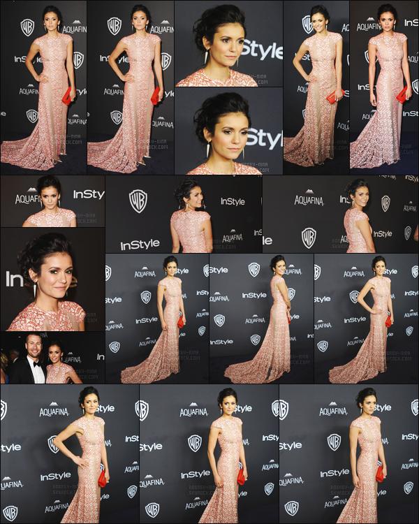 10/01/16 : Notre Nina Dobrev était présente à l'événement « InStyle's Golden Globes Party » à Beverly Hills. Je suis sous le charme de ma Nina ! Elle était tellement magnifique dans cette robe rose fait par Max Azria Atelier - Qu'en pensez-vous ? avis ?