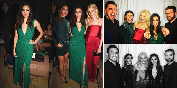 27/02/16 : La belle Nina Dobrev était présente à la soirée « Pre-Oscar Party » qui se déroulé à Los Angeles. Nina était très jolie dans cette robe puis j'adore également sa coiffure. Elle était présente avec ses amis comme Chace Chawford et Jessica Szohr.