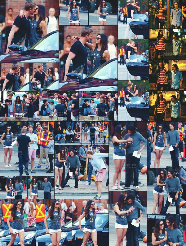 20/07/2016 : Nina a été vu tournant plusieurs scènes avec ses co-stars pour le film « Flatliners » à Toronto. Nous pouvons voir que Nina embrasse un nouvel homme. J'aime beaucoup les tenues qu'elle porte - Coup de coeur pour celle avec le short blanc..