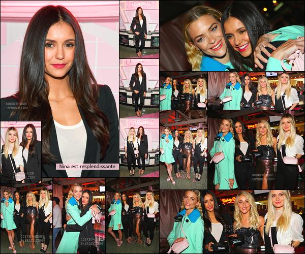 02/11/16: Nina à la soirée organisée par Suki W. et Poppy J. pour le lancement de la collection « Pop & Suki ». Waaw Nina est juste magnifique, sa tenue lui va à merveille. Elle était accompagné de son amie Julianne Hough. QU'EN PENSEZ-VOUS ?