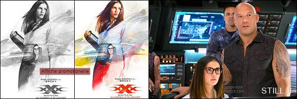 Découvrez une deuxieme bande-annonce du film « xXx: The Return of Xander Cage ». Nina Dobrev interprète le rôle de Becky - Le film sortira en France le 18 janvier 2017 prochain. On aperçoit pas plus Nina que dans la première BA.