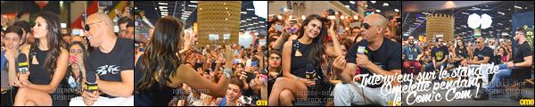 01/12/16: La belle Nina Dobrev était présente au « Comic Con 2016  » de Sao Paulo avec ses co-star du film xXx. J'aime bien la tenue de Nina, par contre je ne suis pas fan du make-up que je trouve trop sombre et la coiffure est simple, un peu même. BOF !
