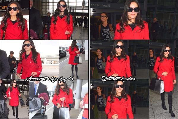 10/01/17: La belle Nina Dobrev a été vue arrivant à l'aéroport « LAX » en direction de la capitale du Royaume-Uni. Nous ne voyons pas beaucoup la tenue de Nina, j'aime bien le manteau rouge, il lui va à ravir. Un petit top pour notre sublime actrice/mannequin.
