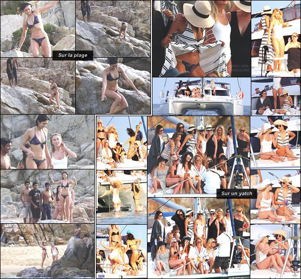 03/03/17: La belle Nina Dobrev à été photographiée sur un « yatch puis sur une plage » près du Mexique. La jeune femme s'est donc rendue à la Bachelorette Party de son amie Julianne Hough pour son enterrement de vie de jeune fille. Cute !