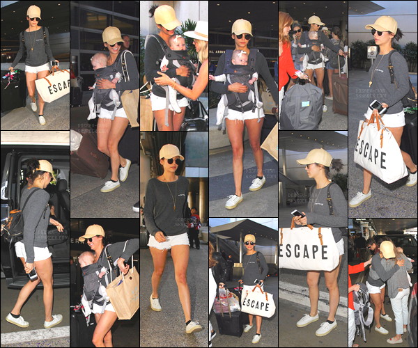 06/03/17: 2 jours après, la belle Nina est de retour à Los Angeles, elle a été vue à l'aéroport de « LAX ». Sur les photos Nina porte le bébé de son amie. Nina est vraiment mignonne, concernant la tenue je dirais qu'elle est simple , j'aime. AVIS ?