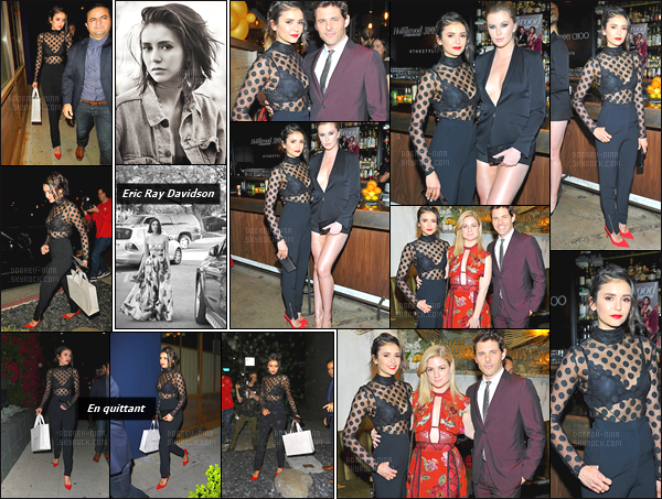 14/03/17: La starlette Nina Dobrev a été vue quittant et pendant le dîner en l'honneur de « Jimmy Choo » à LA. Vous pouvez également découvrir 2 photos du photoshoot par Eric Ray Davidson ! Elle est totalement magnifique, j'adore la tenue - Top !