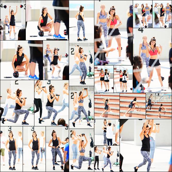 28/06/17: Nina D. a été repéré sur le tournage d'une vidéo pour la nouvelle collection « Reebok Fitness » à Venice. De retour après son séjour à Hawaï, Nina s'est rendue sur le set d'une vidéo pour la nouvelle collection de vêtements Reebok dont elle est l'égérie.