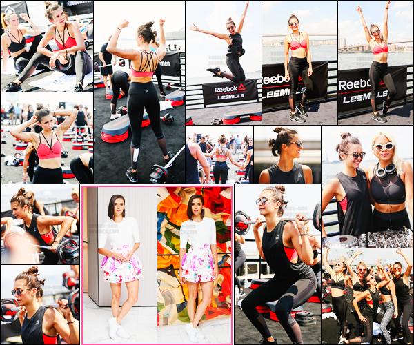 20/07/17 ─ Nina D. était présente lors d'un event de lancement de collaboration pour « Reebok & Les Mills » à NY. C'est donc en tant qu'égérie de la marque que Nina était invitée et à eu le privilège de donner un cours de sport et de poser plusieurs fois. Un top !