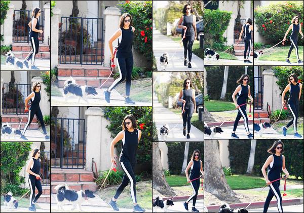 11/09/17 ─ Nina Dobrev a été une encore une fois avec sa chienne Maverick se promenant dans Los Angeles, CA. Pour cette sortie notre belle brune ne ressort la petite tenue de sport qui lui va vraiment très bien, c'est un top ! Où se cache le sourire de Nina D. ?