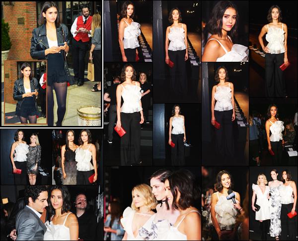 13/09/17 ─ Le lendemain, Nina Dobrev était présente au défilé « Marchesa » lors de la New York Fashion Week. Dans la journée Nina a été vue marchant, portable aux mains, dans le centre-ville de New York. J'adore les deux tenues, je lui donne un beau top !
