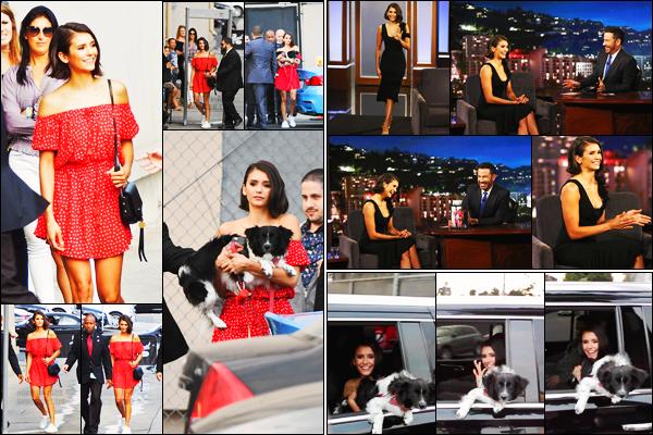 14/09/17 ─ Nina Dobrev s'est rendue sur le plateau de l'émission « Jimmy Kimmel Live! » dans Los Angeles, CA. On peut la voir en arrivant puis en quittant les lieux en compagnie de Maverick. Elle a parlait de ses projets en cours notamment de Flatliners. Top !