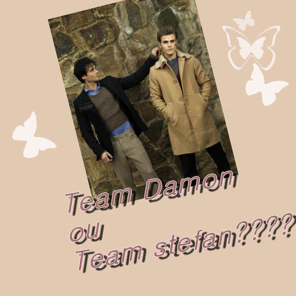 Team Damon ou Team Stefan???