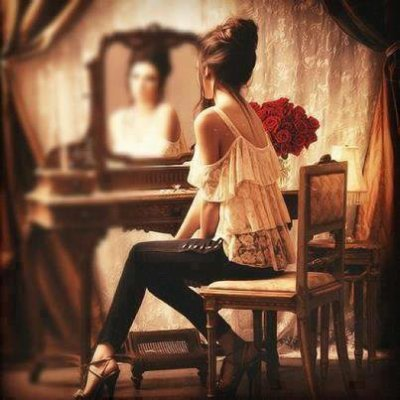 Le miroir est un réel face à face avec soit-même.
