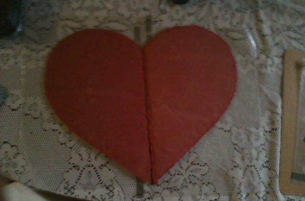 coeur rouge en chocolat