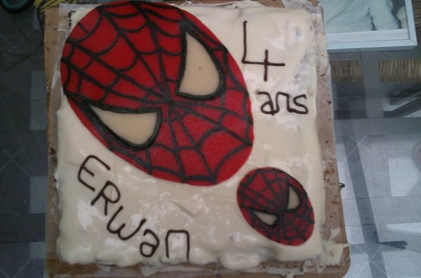tete de spiderman
