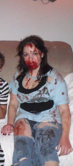 moi en zombie hahaha loll :D