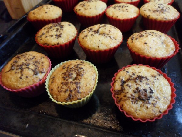 Muffins moelleux a la banane