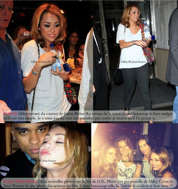 .  Les dernières news de Miley Cyrus  Comme vous avez pu le constater je suis un peu à la bourre au niveau des News. Alors je rattrape tout ça en un seul article :) Mais autant vous y habituer parce que avec la reprise des cours ce genre d'article risque d'être de plus en plus frequent sur ce blog. Alors qu'en pensez vous ? Vous aimez bien ?  .