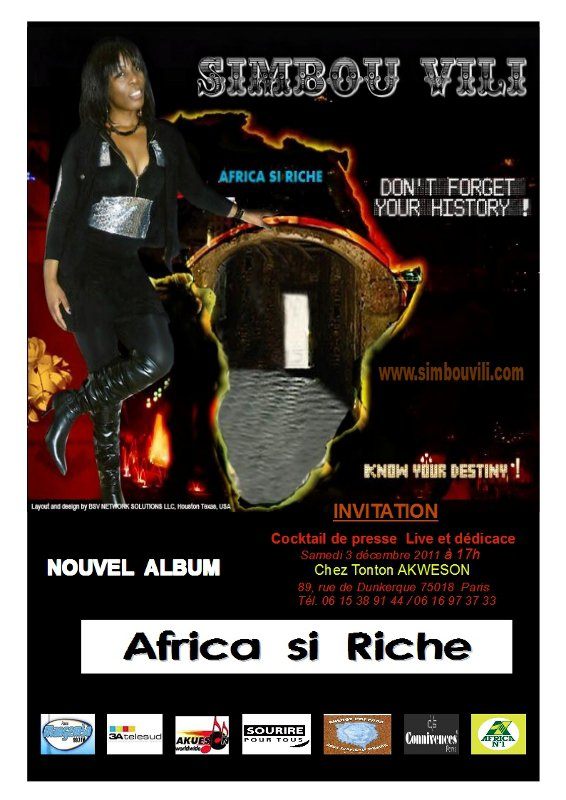 SIMBOU VILI son nouvel album: AFRICA SI RICHE!!!!!!!