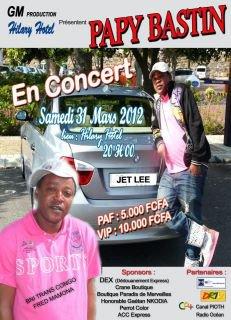 Papy Bastin en concert le samedi 31/03/2012 à Hilary Hôtel de Ponton la Belle