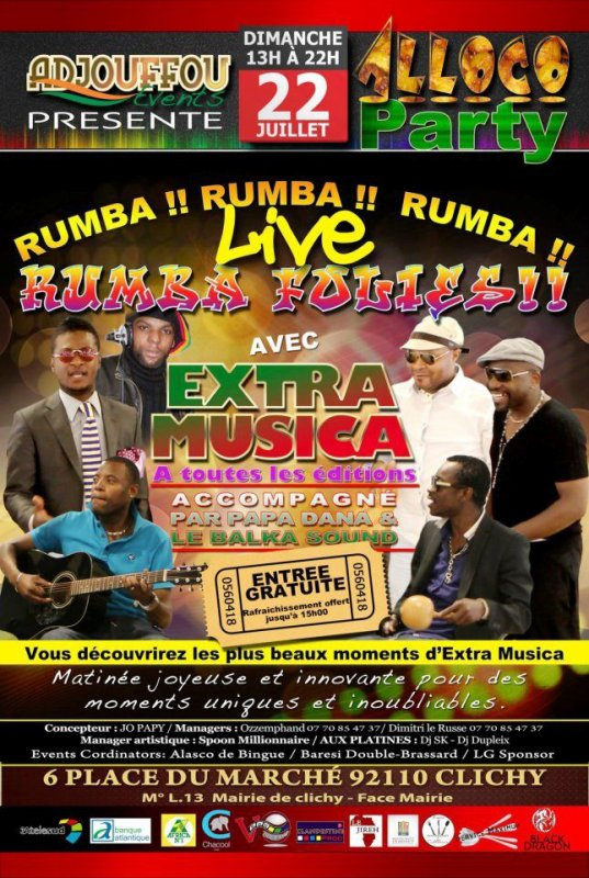 ALLOCO PARTY & EXTRA MUSICA, le 22 Juillet 2012