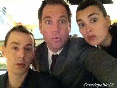 Sean,Micheal et Cote sur le tournage