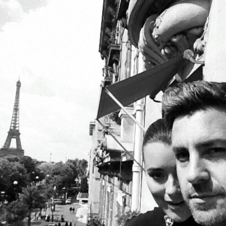 Petite photo inedit de Cote et Diego à Paris