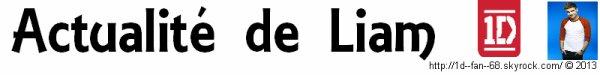 ☼ Actualité ~ Liam (28 janvier 2013) : Bugerboy
