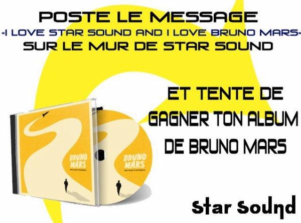 Gagner l'album de Bruno Mars