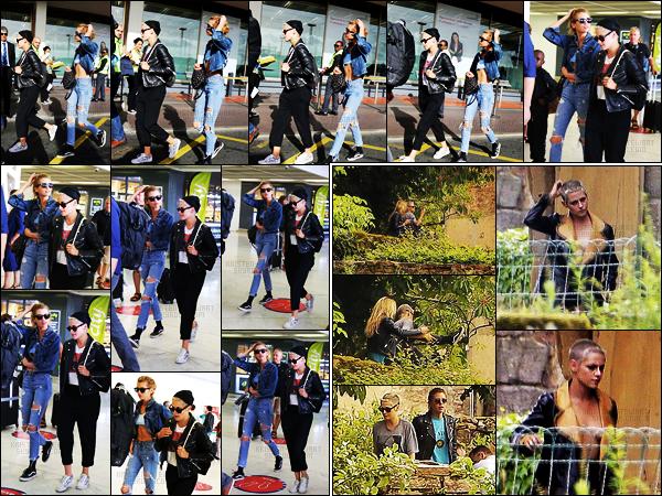 . 16.06.17 -Kristen Stewarttoujours avecStella, ont été aperçues à l'aéroport de «Orly», dans la belle ville deParis ! La veuille, toujours avec sa petite amie Stella, Kristen Stewart était sur le set d'un nouveau shooting pour Chanel. Hâte de voir le résultat. .