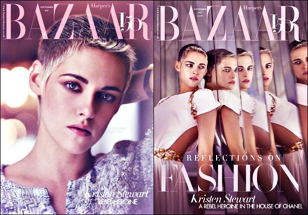 . Kristen Stewart fait la couverture du grand magazine • Harper's Bazaar UK ! .