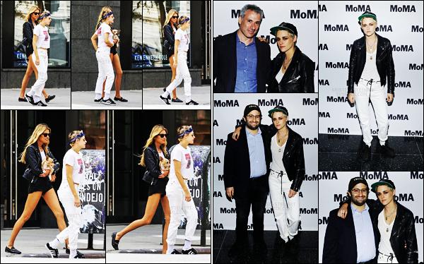 . 28.08.17 -Kristen Stewart, après un mois sans sortir le bout de son nez, a été aperçue avec Stella M. dans New York ! Le 30/08 la belle s'est rendue au musée MoMa dans New York également afin de présenter son film Come Swin. J'aime bien son style, top .