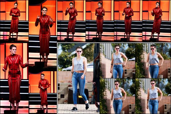 . 10.11.17 - Miss Kristen Stewart s'est rendue à la cérémonie des «American Cinematheque Awards» dans Beverly Hills Cette soirée a été faite en l'honneur d'Amy Adams, Kristen y était somptueuse, un top ! Le lendemain elle quittant un spa, situé dans LA ! .