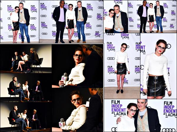 . 06.03.17 - Kristen Stewarts'est rendue au «Personal Shopper LACMA Screening»'▬'dans la ville deLos Angeles Kristen était superbe dans cette tenue, j'aime beaucoup sa coiffure également. Beau top ! Elle a aussi répondue à de nombreux questions .