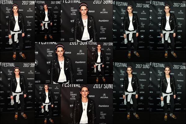 . 19.01.17 - Kristen Stewarts'est rendue à la première de «Come Swim» lors du Festival du Film de Sundance ••NY ! Je n'aime pas du tout cette tenue pour un évent, rappelons de Come Swin est le premier court métrage réalisé par Kristen Stewart, wow .