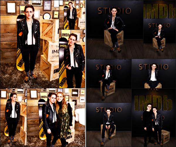 . 20.01.17 - Kristen Stewarts'est rendue au «IMDB Studio - Sundance Film Festival» ayant lieu dans'▬'New York. Kristen s'est donc rendu au Sundance Film Festival ayant lieu dans la ville de New York, avec une tenue décontractée. Un petit bof pour K. .