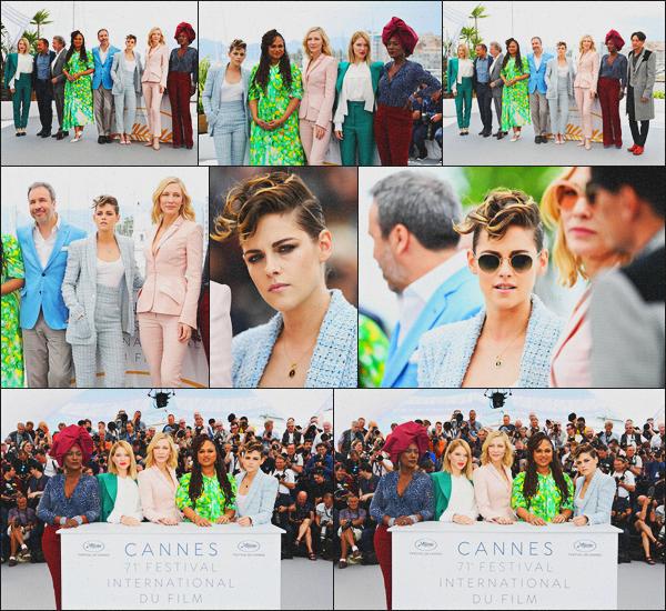 . 08.05.18 - Kristen Stewarts'est rendue au Jury Photocall se déroulant au'« Palais des Festivals »''à''▬'' Cannes, FR La belle actrice continue ses sorties avec les membres du Jury, qui se sont rendus au Photocall du Festival de Cannes, j'adore sa coiffure ! .