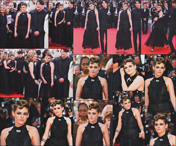 . 08.05.18 - Kristen Stewart lors de l'ouverture du « 71e Festival de Cannes » 'à la montée des marches''▬'' Cannes. Kristen a inaugurée le red carpet du Festival de Cannes dans une sublime robe noire, pour cette 4ème sorties sur la Côte d'Azur, un top ! .