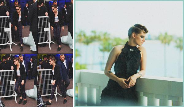 . 10.05.18 - Kristen Stewart a été aperçue quittant le Palais des Festivals''se situant sur la Croisette''▬'' dans Cannes Pour ce troisième jour de Festival, K. Stewart a été aperçue seule, quittant le Palais des Festivals. Ainsi qu'une nouvelle photo pour Chanel .