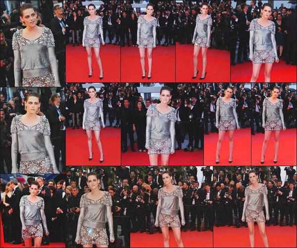 . 14.05.18 - Kristen Stewarts'est rendue à l'Avant Première de « BlacKkKlansman »''lors du Festival de Cannes'▬' FR Pour ce septième jour de Festival, nous retrouvons Kristen lors de l'Avant Première du film BlacKkKlansman, c'est encore une fois, un  top ! .