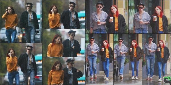 . 31.01.19 - Kristen Stewart a été vue en compagnie de Sara Dinkin allant prendre un café dans'' ▬ ''Los Feliz, en Calif De nouveau en compagnie de sa chérie, miss Stewart a été vue sous le mauvais temps de la Californie, allant prendre un café bien chaud. .