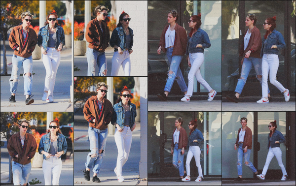 . 16.02.19 - Kristen Stewart a été aperçue toujours avec Sara Dinkin faisant une balade à'' ▬ ''Los Angeles, Californie. C'est dans la ville de Los Angeles que le petit couple a été vu en balade dans les rues de la ville. Pour la tenue de Kristen c'est un gros top .