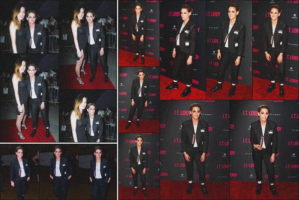 . 24.04.19 - Kristen Stewart s'est rendue à l'avant-première de « J.T. Leroy » ayant lieu dans'' ▬ ''Hollywood, Californie C'est pour l'avant-première de son prochain film que Kristen s'est rendue au «ArcLight» dans Hollywood ! Elle a été vue avec Bella Thorne. .