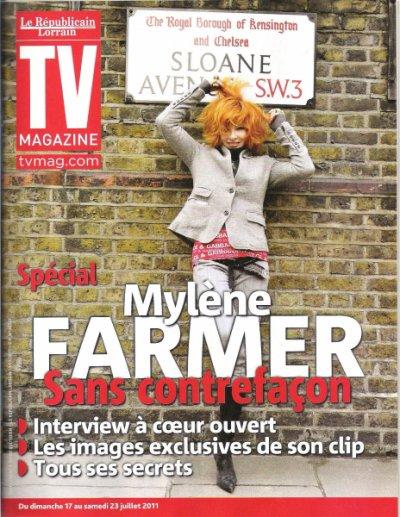 Mylène à la Une de TV Mag LA UNE EN HQ