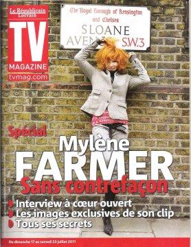 Mylène à la Une de TV Mag LES UNES + ITW + PHOTOS